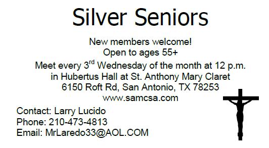 Silver Senior Recruitment @ Narthex