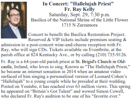 In Concert Hallelujah Priest Fr Ray Kelly St Anthony Mary