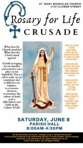 Rosary for Life Crusade @ St. Mary Magdalen Catholic Church