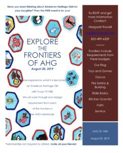 Explore the Frontiers of AHG @ Building B (RE building)