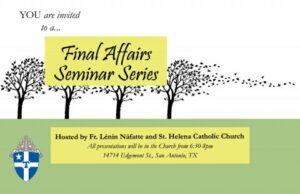 Final Affair Seminar Series @ St. Helena's Catholic Church
